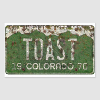 Old Colorado License Plate Toasted Autos Stickers