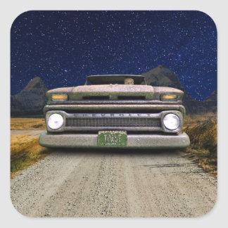 Old Colorado Pickup Truck Toasted Autos Stickers