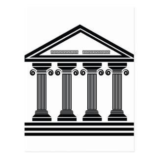 old columns postcard