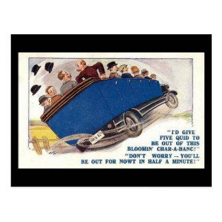 Old Comic Postcard - Char-a-banc