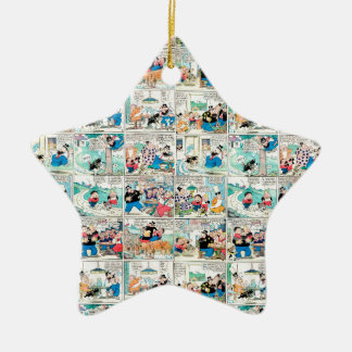 Old comic strip ceramic star ornament