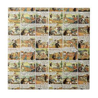 Old comic strip ceramic tile