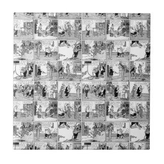 Old comic strip ceramic tiles