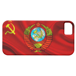 Old Communist USSR Flag Fabric iPhone 5 Covers
