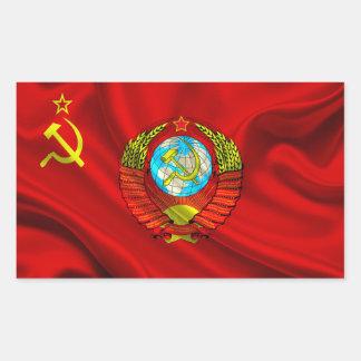 Old Communist USSR Flag Fabric Sticker