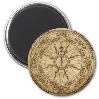 Old Compass Rose 2 Inch Round Magnet