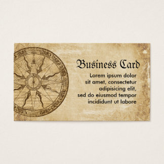 Old Compass Rose Business Card
