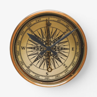 Old Compass Wall Clock