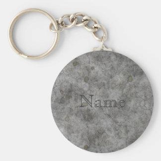 Old Concrete Basic Round Button Keychain