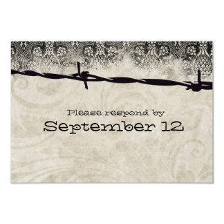 Old Country Barbed Wire rsvp Card
