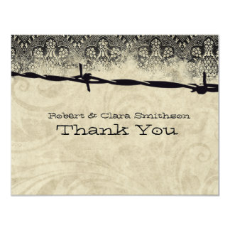 Old Country Barbed Wire Thank You Card