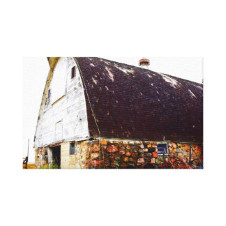 old country barn on canvas