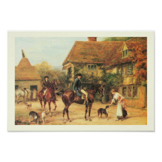 Old country scene poster
