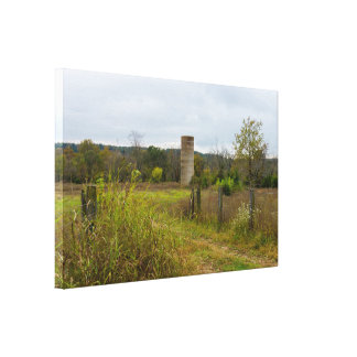Old Country Silo Landscape Canvas Print