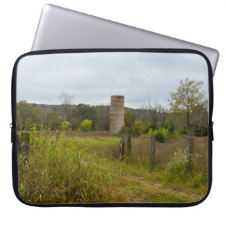 Old Country Silo Landscape Computer Sleeve
