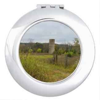 Old Country Silo Landscape Vanity Mirror