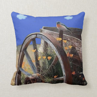 Old Country Wagon. Throw Pillow