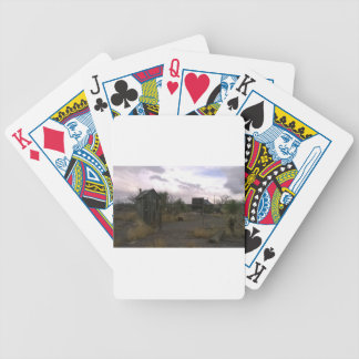 Old Country Western Ghost Town Bicycle Playing Cards