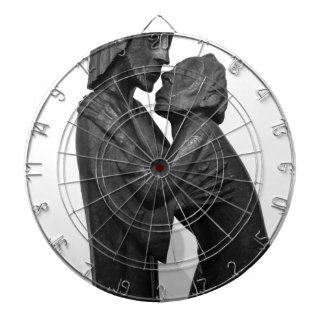 Old Couple Sculpture Dartboard