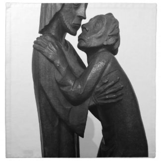 Old Couple Sculpture Napkin