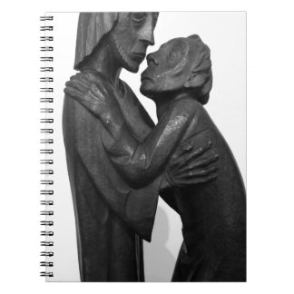 Old Couple Sculpture Spiral Notebook