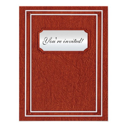 Old cover book wedding custom invitations
