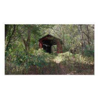 old covered bridge,yellowsprings ,ohio poster