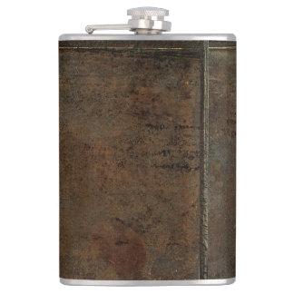 Old Cow Hide Look In Brown Hip Flask