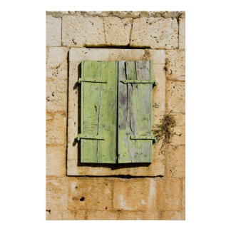Old Croatian window shutters Poster