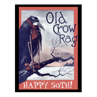 Old Crow Birthday Card