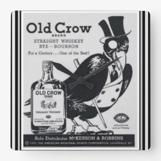 Old Crow Whiskey Wall Clock