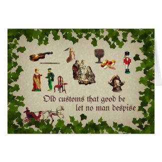 Old Customs Christmas card