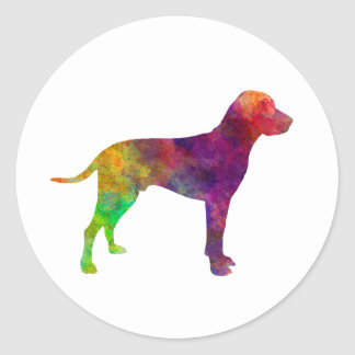 Old Danish Pointer in watercolor Classic Round Sticker