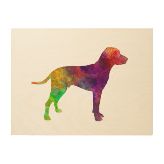 Old Danish Pointer in watercolor Wood Wall Decor
