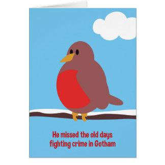 Old Days Robin Christmas Card