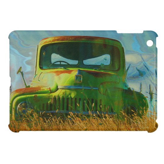 Old Derelict Vintage Truck Art Case For The iPad Mini