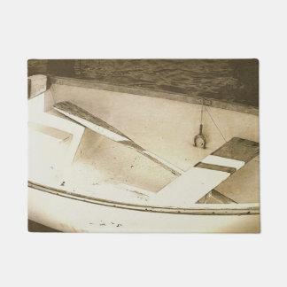Old Dinghy Boat Nautical Door Mat