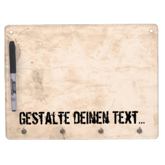 Old Dirty Background Dry Erase Board With Keychain Holder