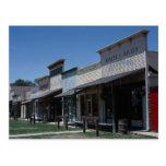 Old Dodge City storefronts in Dodge City, Kansas, Postcard