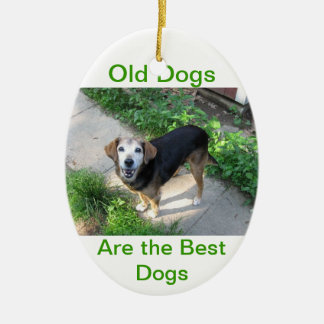 Old Dogs are the Best Dogs Ceramic Ornament
