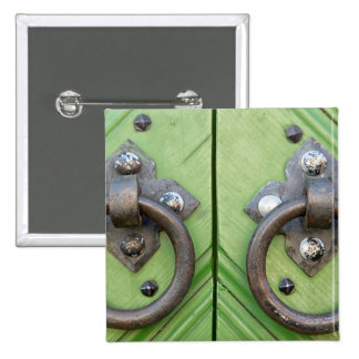 Old door 2 inch square button