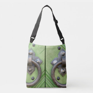 Old door crossbody bag