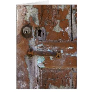 Old Door Detail Card