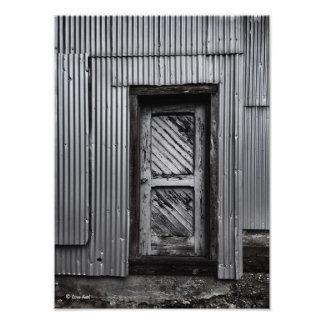 Old Door in Abandoned Building 2 Photo Print