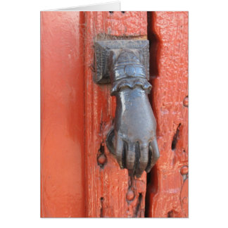 Old Door Knocker Card