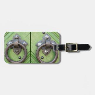 Old door luggage tag