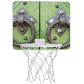 Old door mini basketball hoop