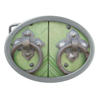 Old door oval belt buckles