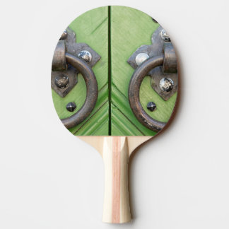 Old door ping pong paddle