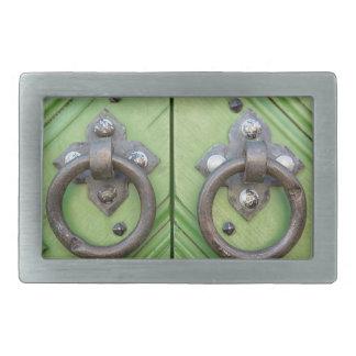 Old door rectangular belt buckle
